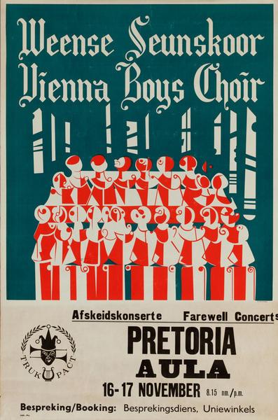 Vienna Boys Choir, Pretoria South African Concert Poster