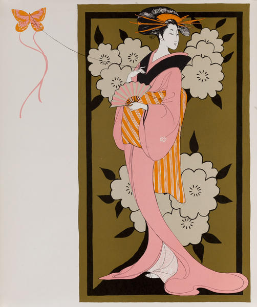 Japanese Kite and Kimono, 1966 Perennial Woman Calendar