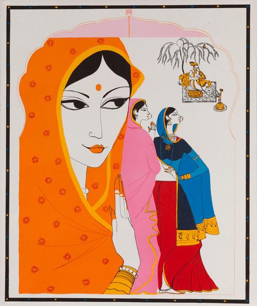 Indian Sari, 1966 Perennial Woman Calendar