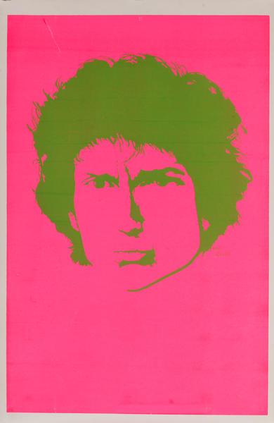 Bob Dylan Blacklight Poster