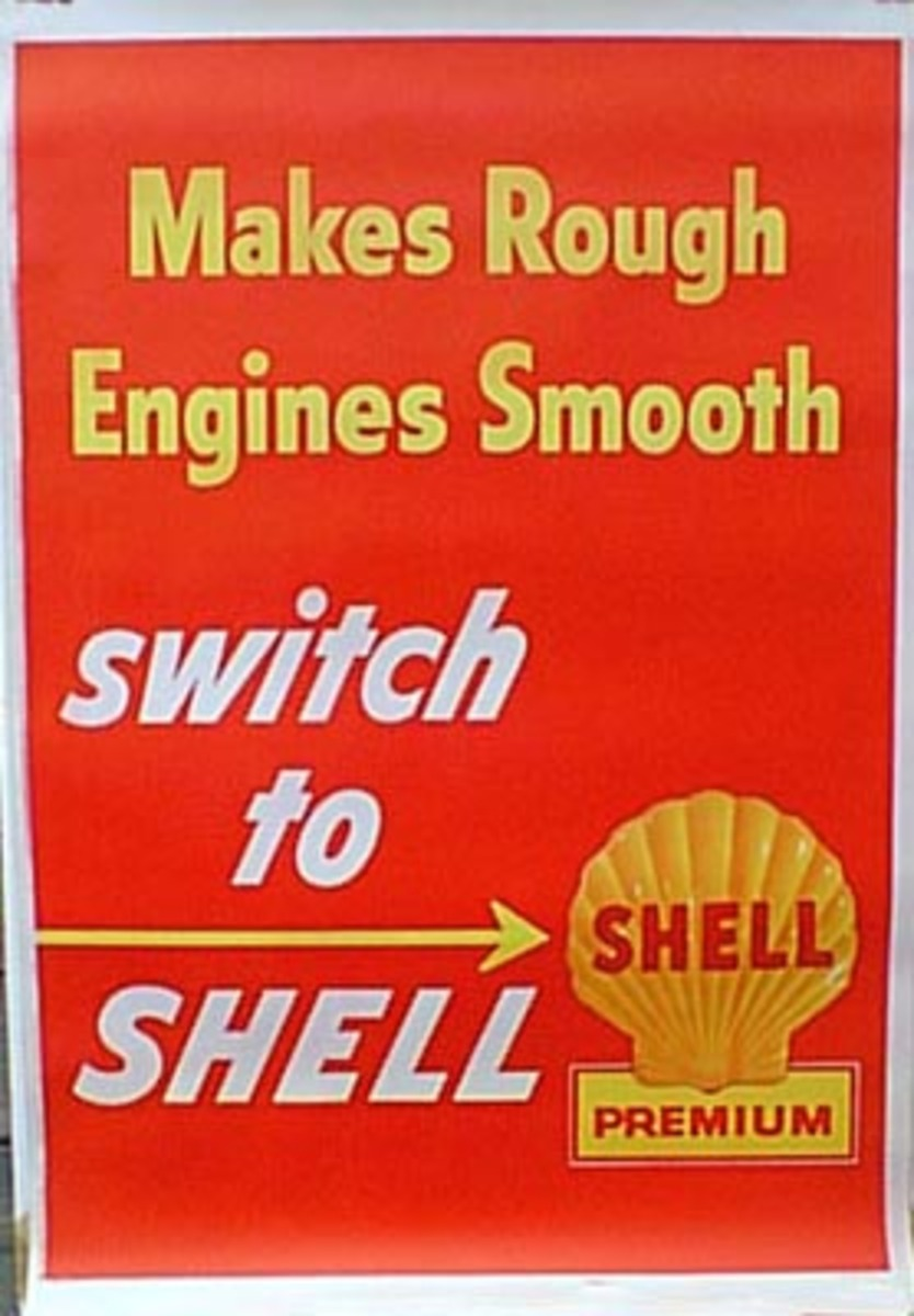 Original Vintage Shell Oil Advertising Poster Switch To Shell