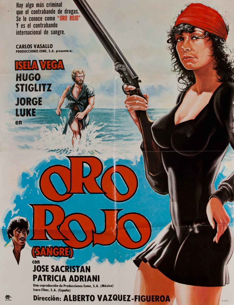 Oro Rojo, Mexican Movie Poster
