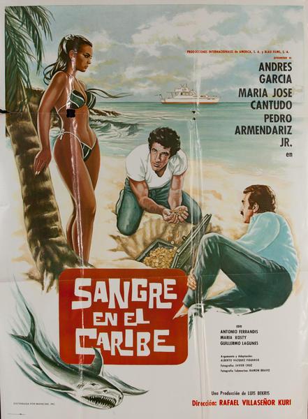 Sangre en el Caribe, Mexican Movie Poster