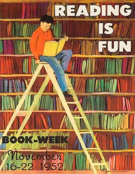 Book Week 1952 Original Literacy and Reading Poster