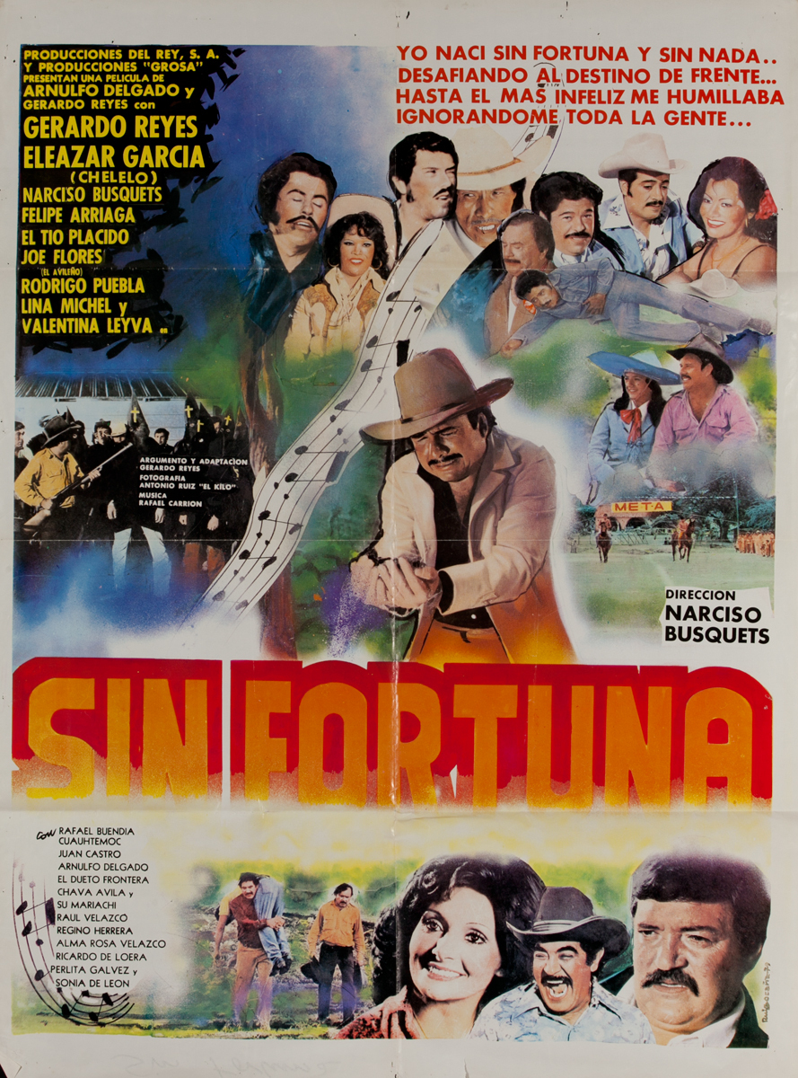 Sin Fortuna, Mexican Movie Poster