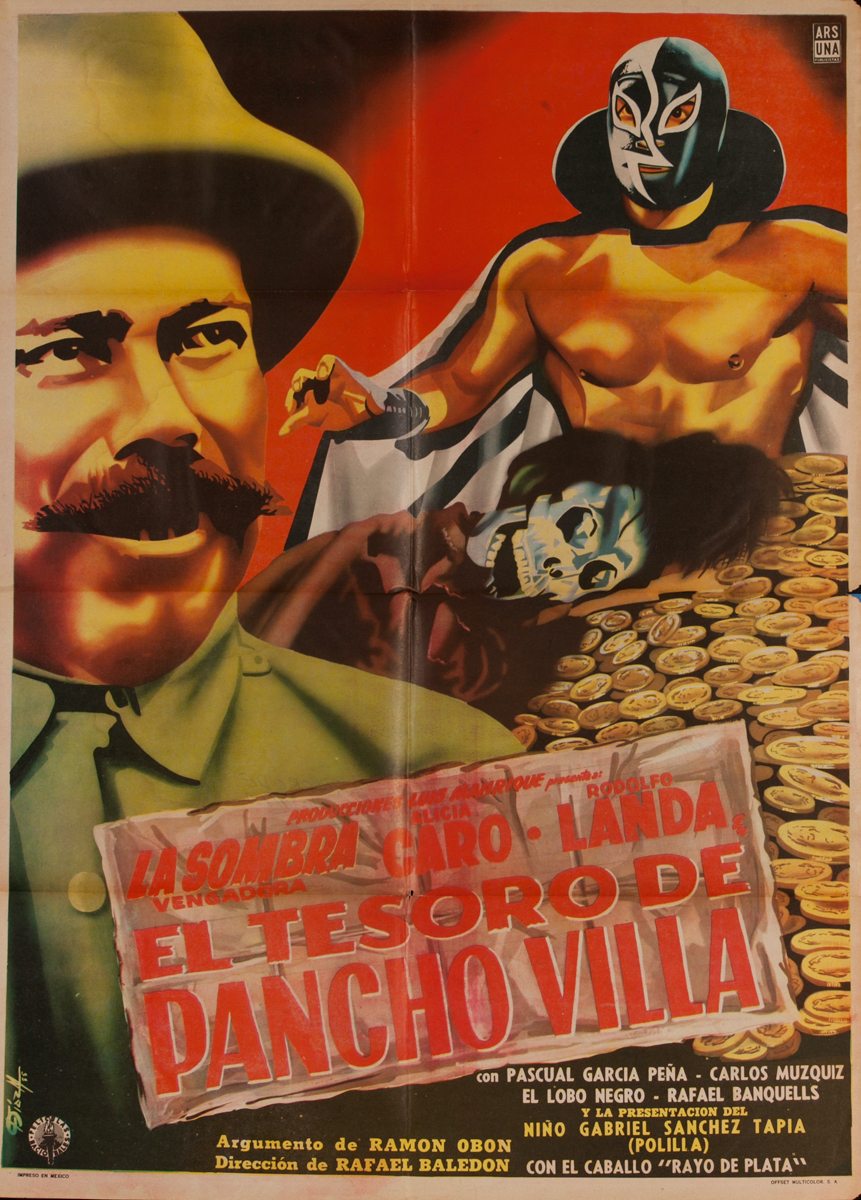 El Tesoro De Pancho Villa, Mexican Movie Poster