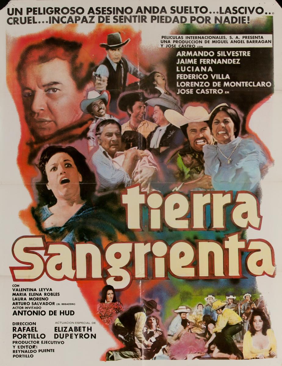 Tierra Sangrienta, Mexican Movie Poster