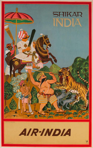 Shikar India, Air India Travel Poster