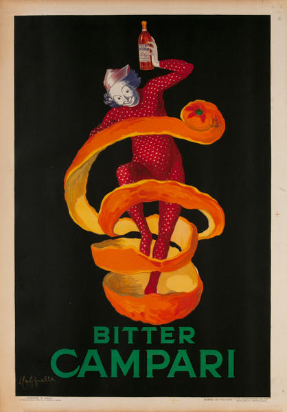 Bitter Campari, Liquor Advertising Poster