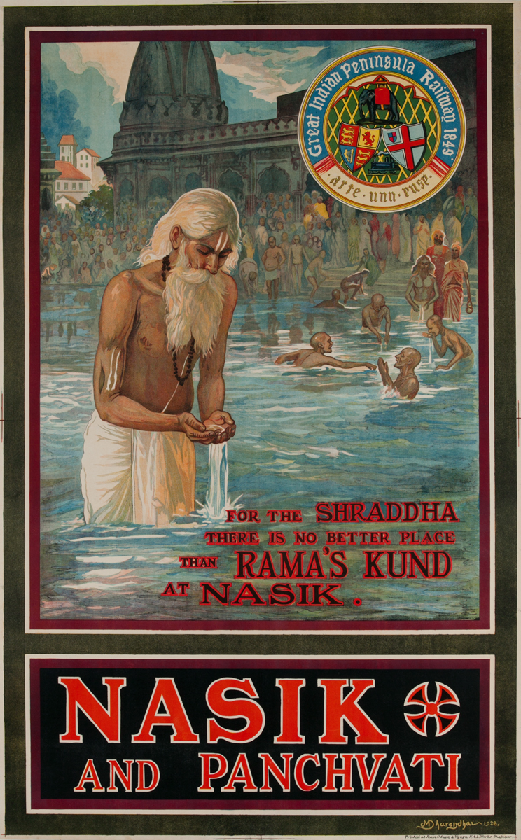 Nasik and Panchvati, Great Indian Peninsula Railway Poster