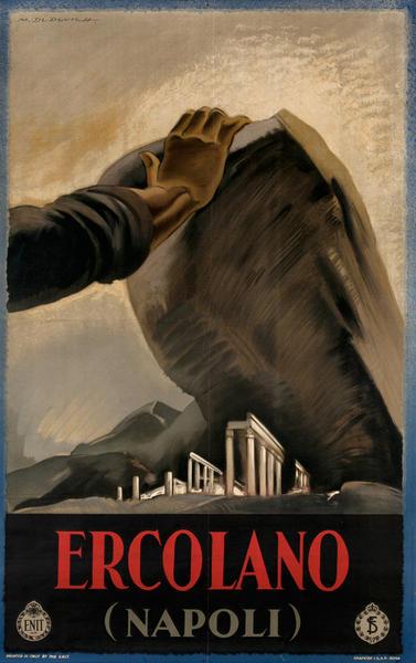 Ercolano, Napoli, Italian ENIT Travel Poster