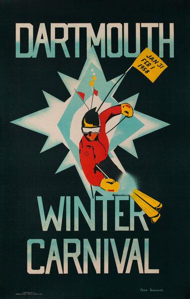 1958 Dartmouth Winter Carnival Poster, Jan 31 - Feb 1