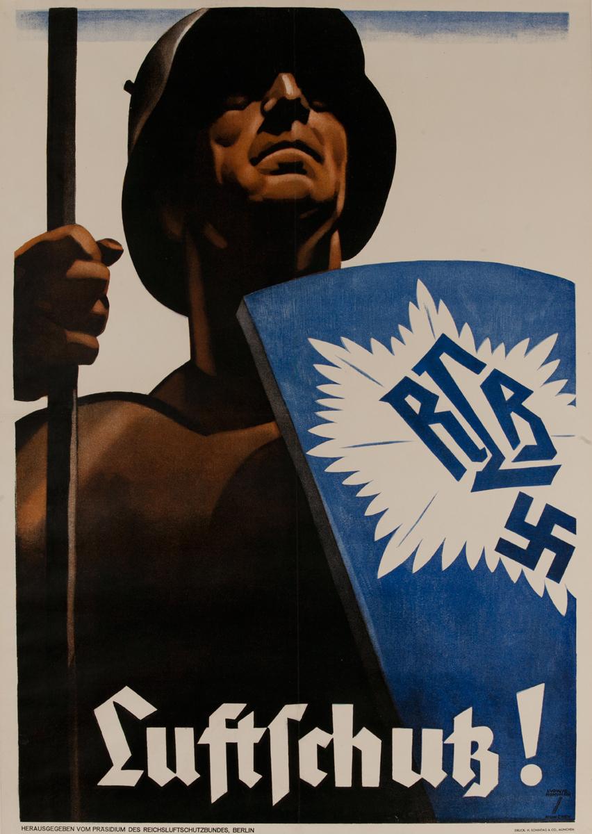 Luftschutz!, German WWII Poster Air Raid!