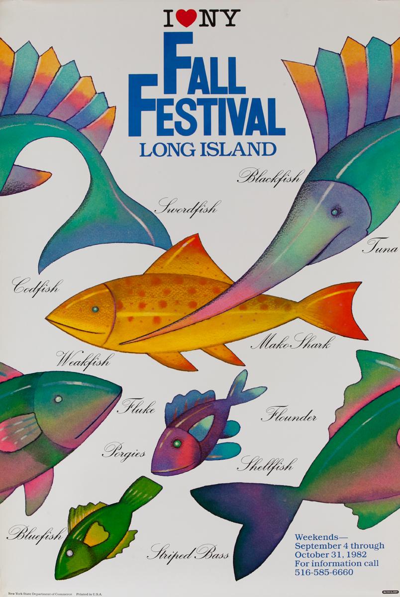 I Love NY Fall Festival Long Island Poster