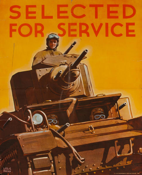 Selected for Service, WWII American Recruiting Poster