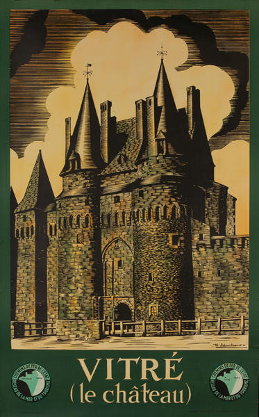 Vitre (le chateau) France Travel Poster