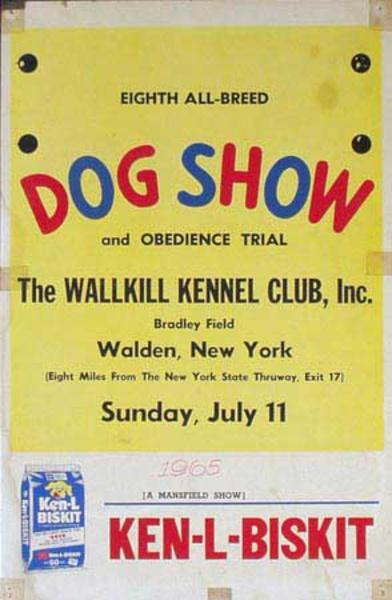 Eighth Wallkill Kennel Club Dog Show Poster