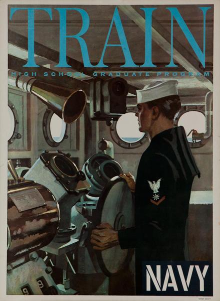 Train High School Graduate Program, US Navy Vietnam War Era Recruiting Poster