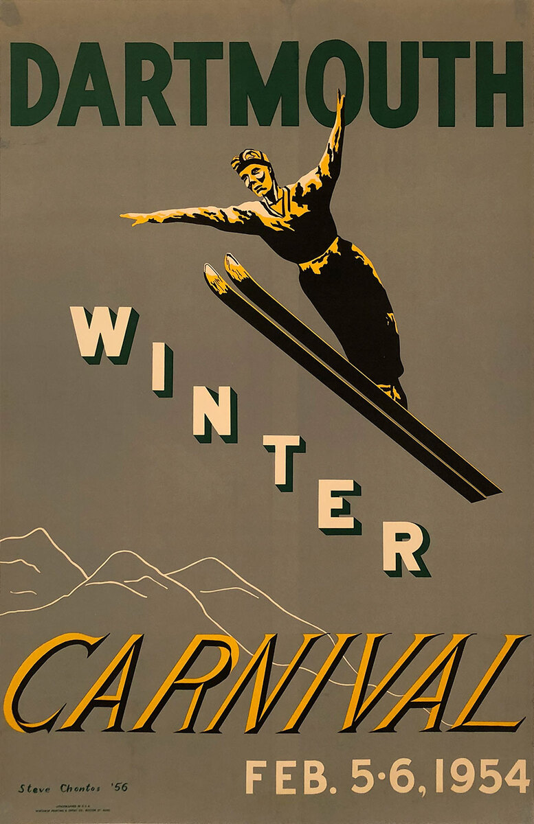 1954 Dartmouth Winter Carnival Poster