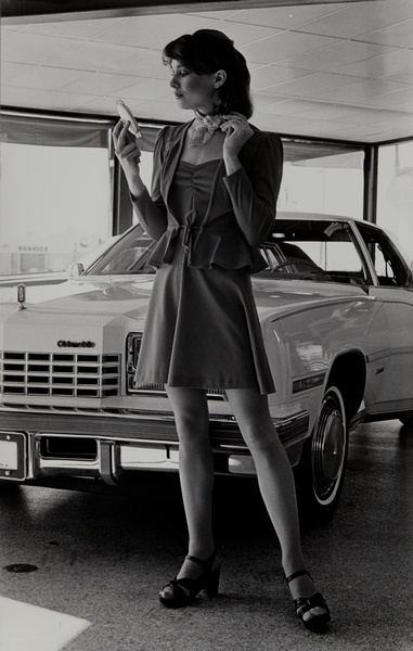 Dupont corporate communication photograph, model with new car