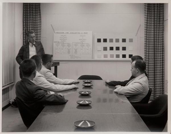 Dupont corporate communication photograph, Procedure for evaluating a paint