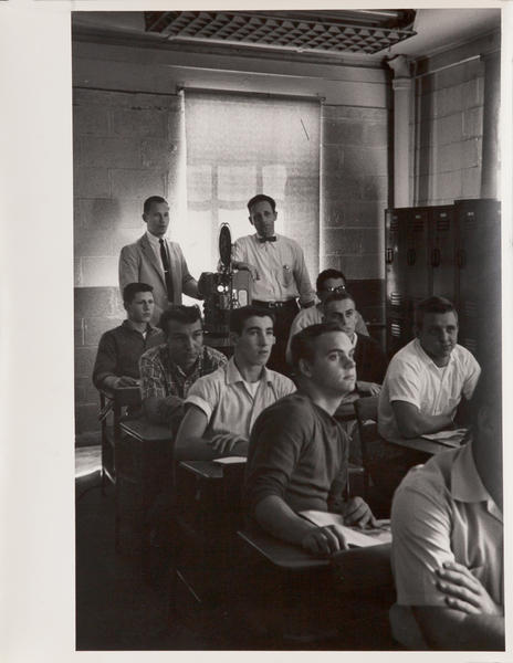 Dupont corporate communication photograph, Students watching film