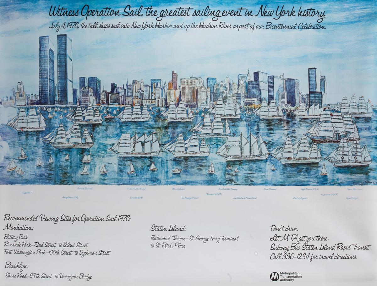 New York Harbor Festival Operation Sail,  Parade of Tall Ships Poster