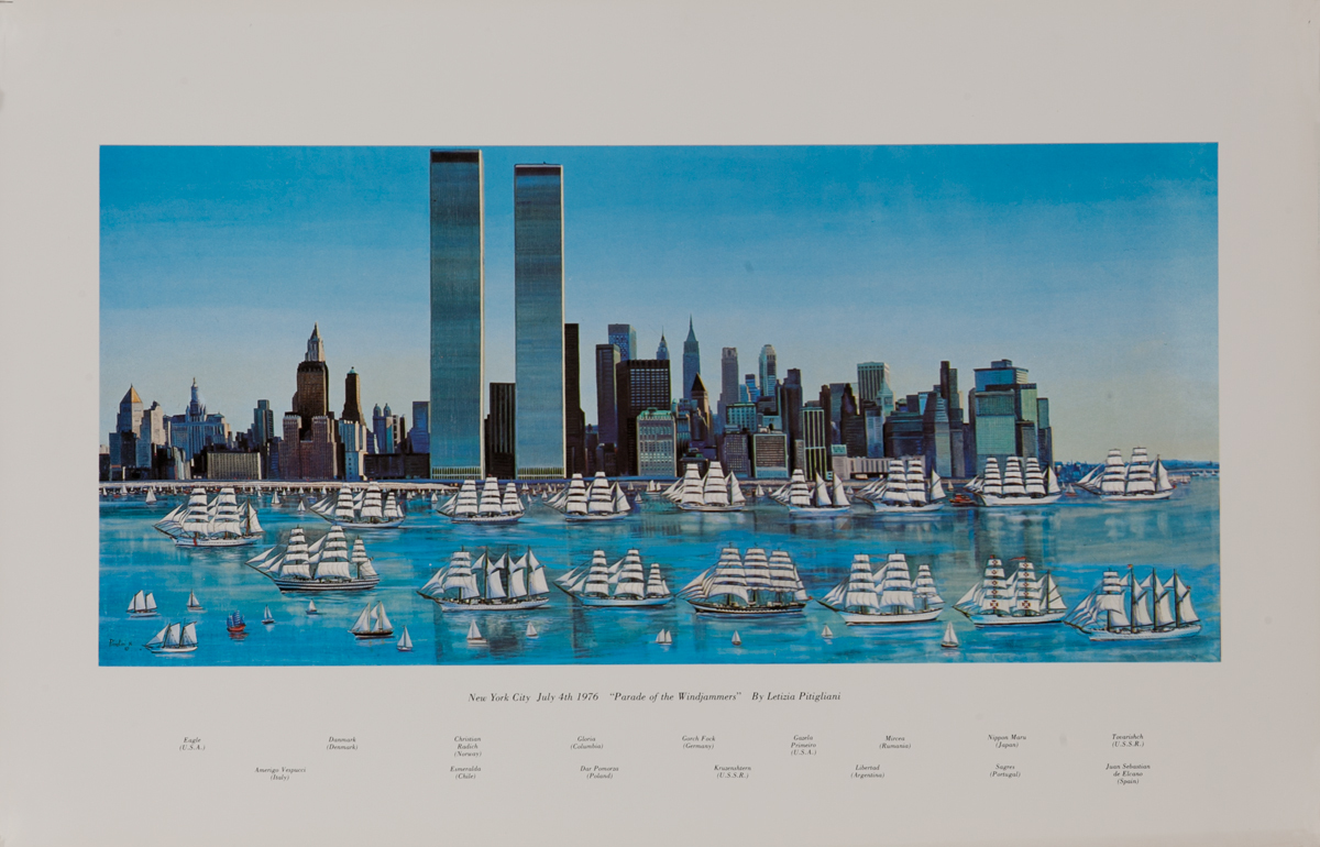 New York City, July 4th 1976, Parade of the Windjammers Poster