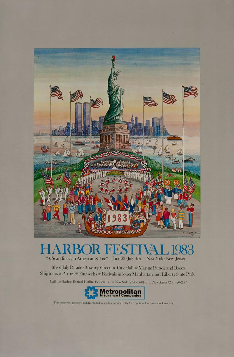 New York Harbor Festival1983, Metropolitan Life Poster, vertical
