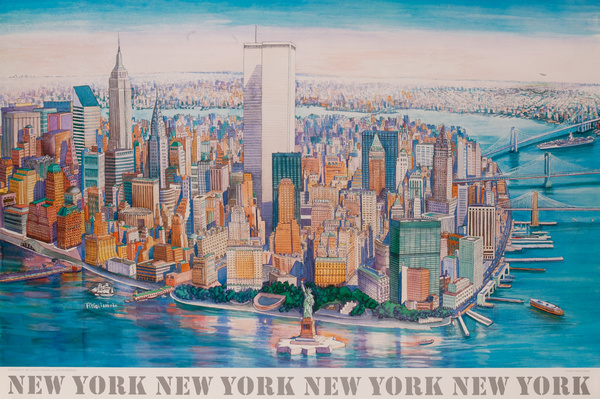 New York New York New York Art Poster