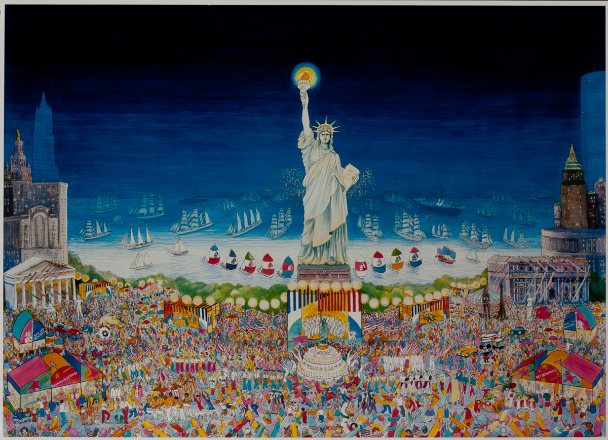 Statue of Liberty Harbor Festival Poster, without text