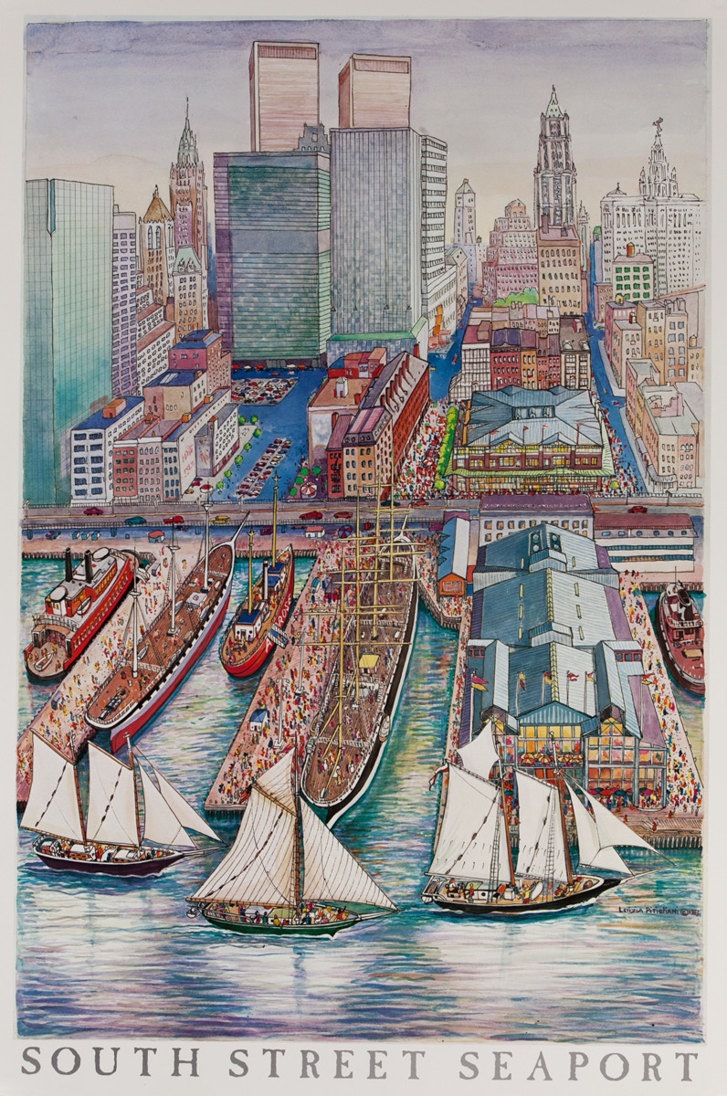 New York South Street Seaport Poster