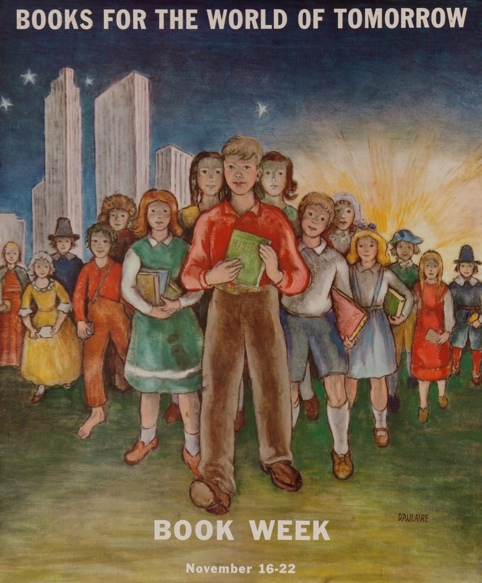 Books for the World of Tomorrow, Children's Book Week Poster 1947