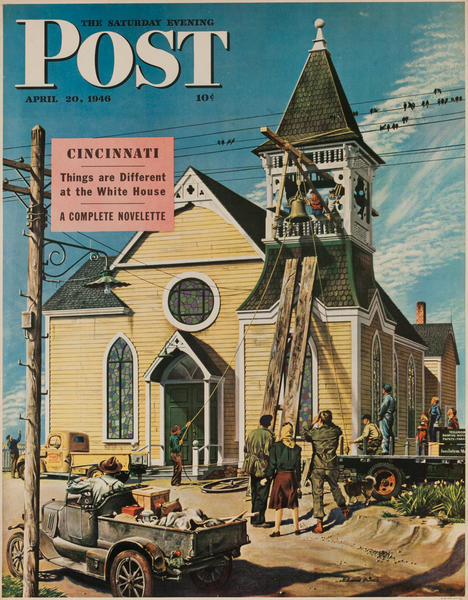 Saturday Evening Post Newsstand Poster<br>April 20, 1946