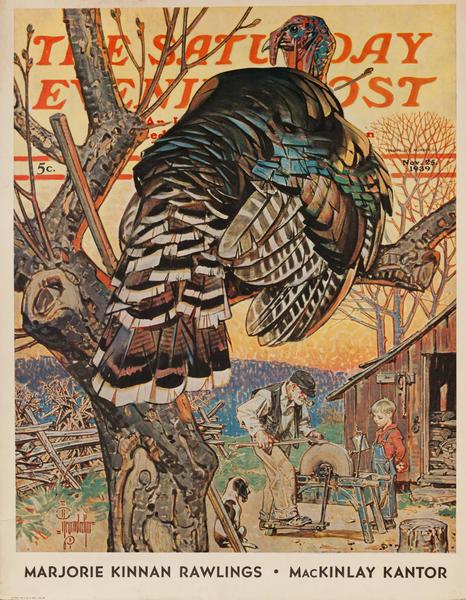 Saturday Evening Post Newsstand Poster<br>November 25, 1939