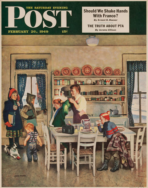 Saturday Evening Post Newsstand Poster<br>February 26, 1949