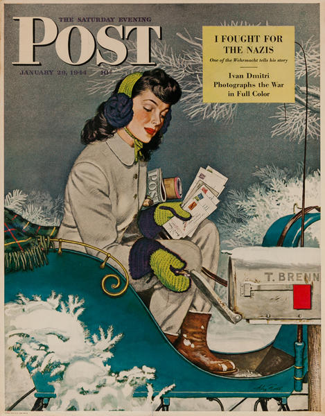 Saturday Evening Post Newsstand Poster<br>January 29, 1944