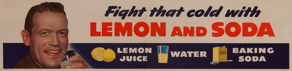 Fight That Cold With Lemon and Soda, Health Poster
