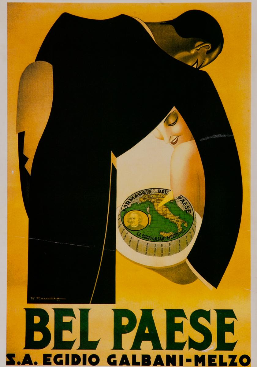 Bel Paese Italian Advertising Poster