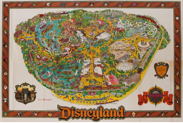 Disneyland Theme Park Souvenir Map Poster