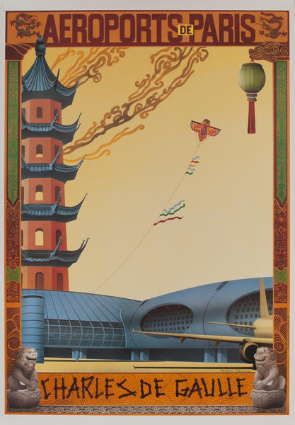 Aeroports de Paris, Charles de Gaulle, French Travel Poster