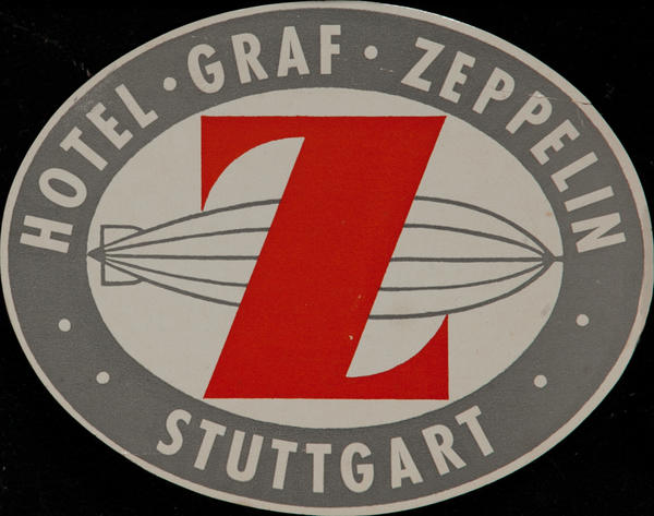 Hotel Graf Zeppelin Luggage Label