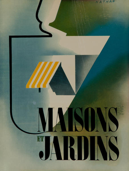 Maison et Jardins, House and Garden French Advertising Poster