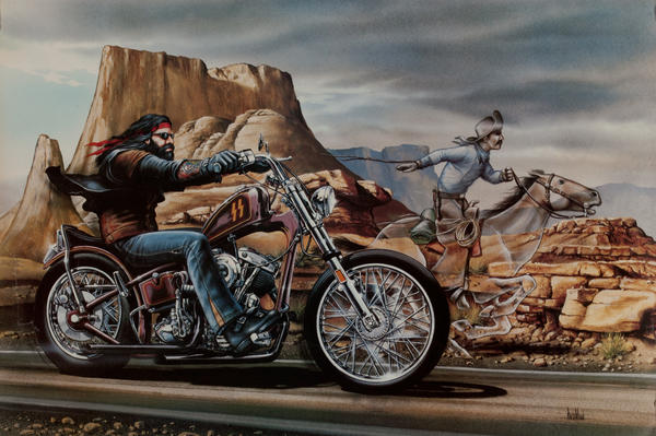 Easy Rider Motorcycle Poster