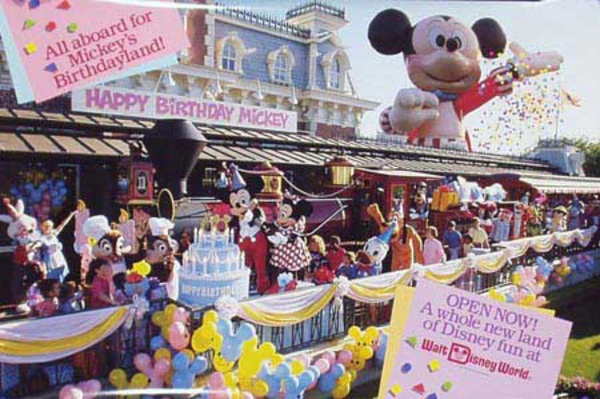 Mickey Mouse Birthday Original Disney Poster