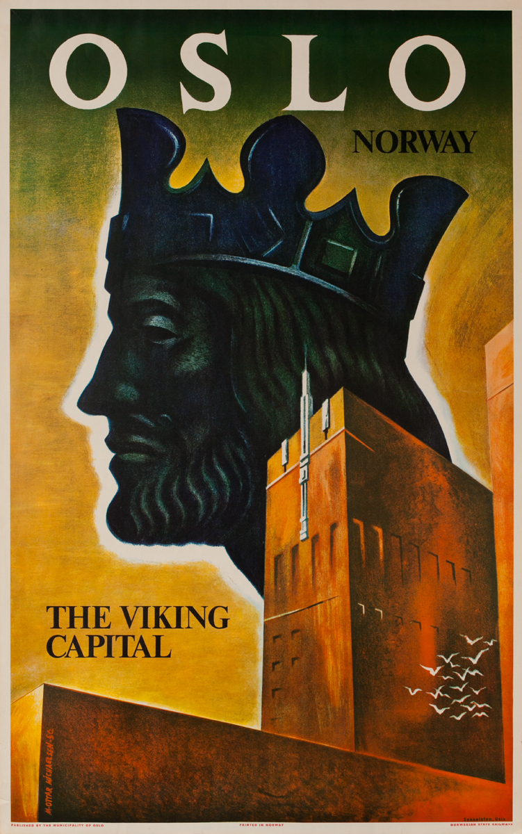 Oslo Norway, The Viking Capital, Norwegian State Railways Poster