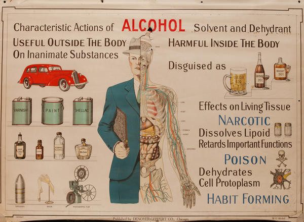 Winslow Health and Hygiene Series Poster, W17 Alcohol