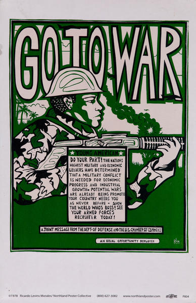 Go to War, Protest Poster