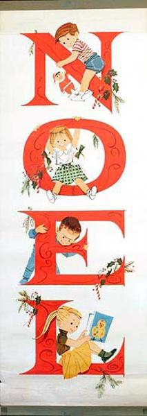 Noel Christmas Original Door Poster