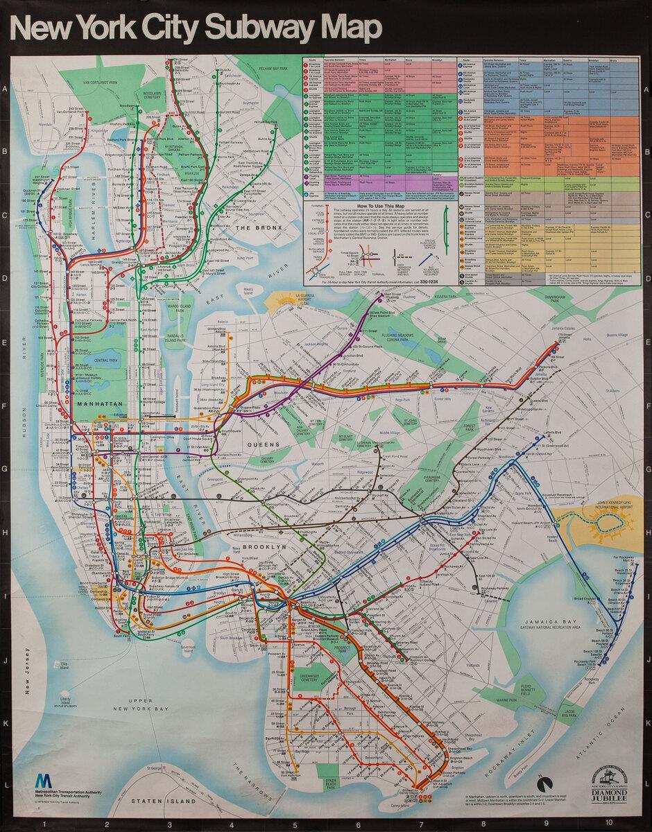 New York City Subway Map Subway Map Poster